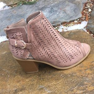 Shoes - 💕Taupe Vegan Leather Ankle Bootie